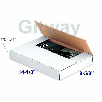 50 Set 14 18 X 8 58 X 1 Multi Depth Cardboard Book Mailer Shipping Box Boxes