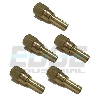 5 Pck 38 Swivel Hose Barb X 38 Female Npt Brass Pipe Fitting Gas Fuel Water