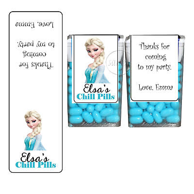 Frozen Elsa Birthday Party Favors Tic Tac Labels Stocking Stuffers SET of 14 - Frozen Birthday Parties