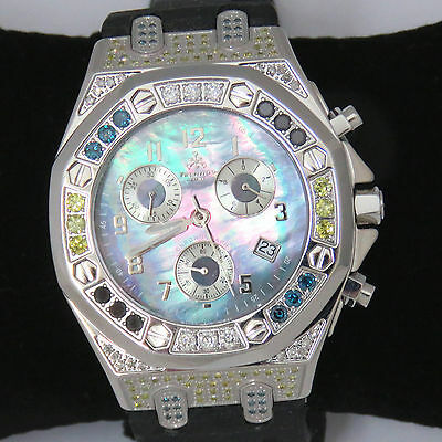 Nyjewel Brand New Techno Jpm Men 2 5Ct Muti Color Diamond Watch Great Gift