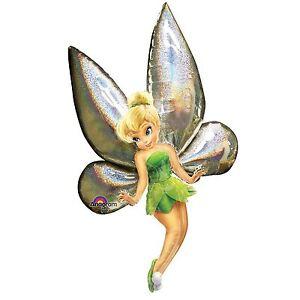 Giant Disney Fairies Tinkerbell AirWalkers Foil Balloons Birthday Princess Party