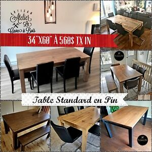 TABLE NEUVE 560$ DIRECTEMENT DU FABRICANT  QC