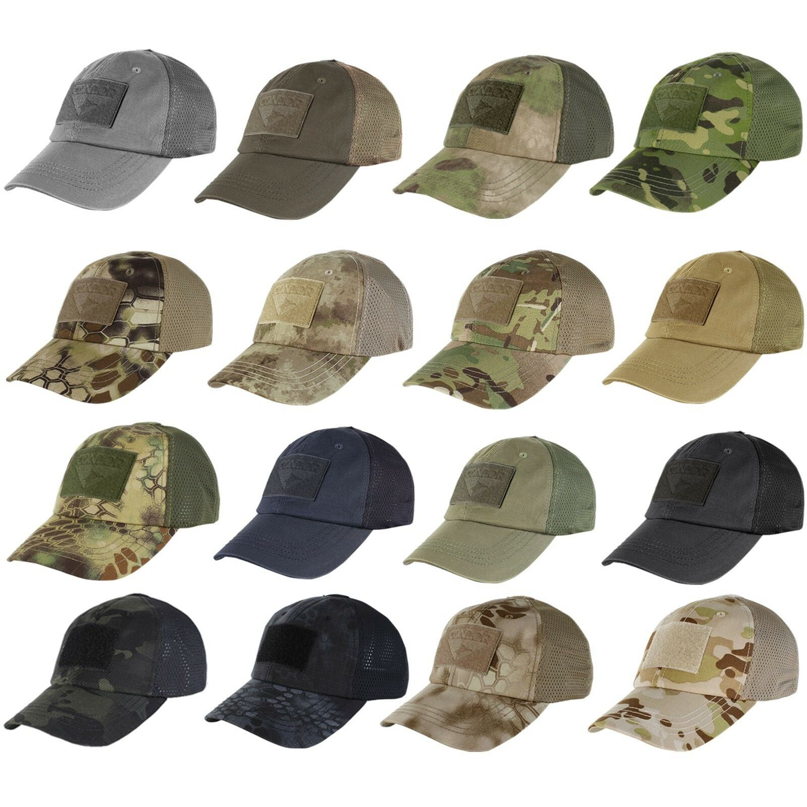 Condor Tactical Baseball Style Military Hunting Hiking Outdoor Mesh Cap Hat  TCM f3a0889a56d