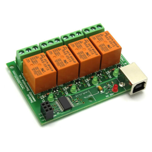 USB Relay Board - Four(4) Channels, for Home Automation