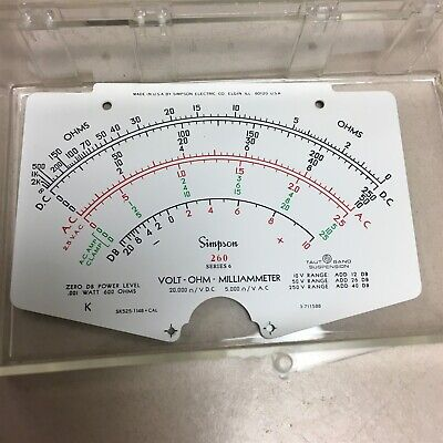 Nos Simpson 260 Series 6 Electric Meter Replacement Part Face Plate H10