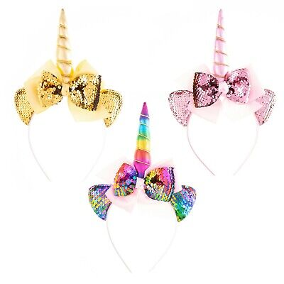Magical Sequin Unicorn Kids Headband for Birthday Parties and Dress Up Themes](Themes For Birthdays)