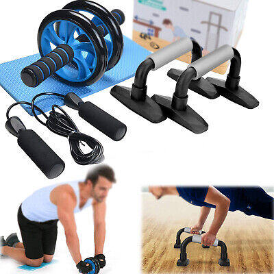 Belly Core Trainer Free Knee Pad 100% Original Abdominal Exercise Wheel Ab Rollers Exerciser Fitness Workout Gym Roller Great For Arms Back