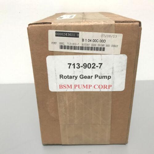 New BSM Pump 713-902-7 Rotary Gear Pump