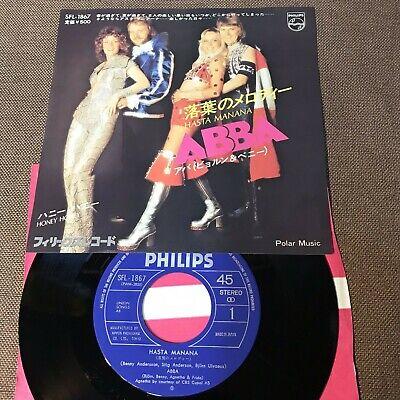 "ABBA -Björn Benny & Agnetha Frida Hasta Manana JAPAN 7"" RECORD SFL-1867 w/PS"