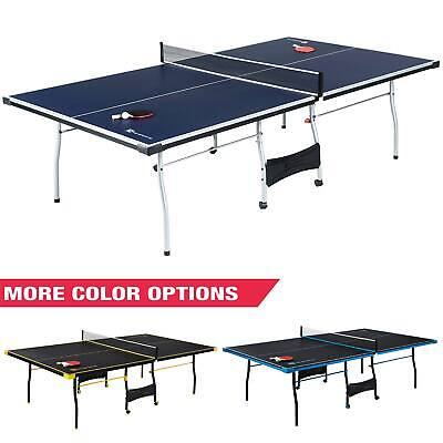 MD Sports Official Size 15mm 4 Piece Indoor Table Tennis Tennis, Blue/White