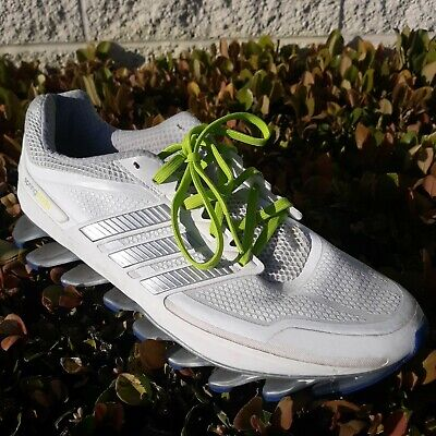 Adidas Springblade Running Shoes Lime Green White Silver Gray Blue SZ 10 D74499 Lime Green Running Shoes