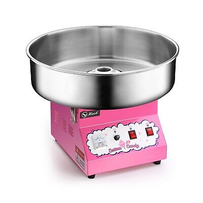 Electric Commercial Cotton Candy Machine Candy Floss Maker Pink