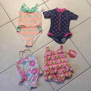 New and Used Girls Bathers/Swimmers sizes 2, 3 and 6X Charnwood Belconnen Area Preview