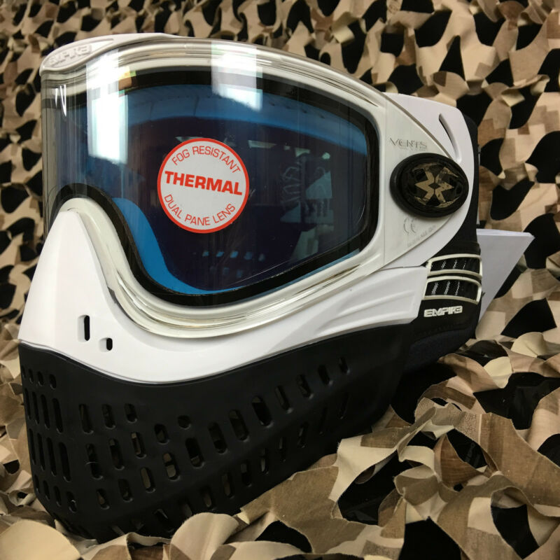 NEW Empire E-Flex Dual Pane Thermal Anti-Fog Paintball Mask Goggle - White
