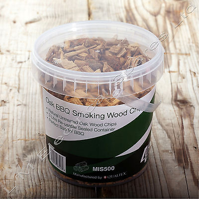 1.25 Litre Resealable Tub Oak BBQ Barbecue Smoking Wood Chips Smoker Chippings for sale  Shipping to Canada