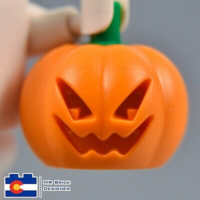 LEGO Jack O' Lantern Head Cover - Headless Horseman Pumpkin Halloween Town