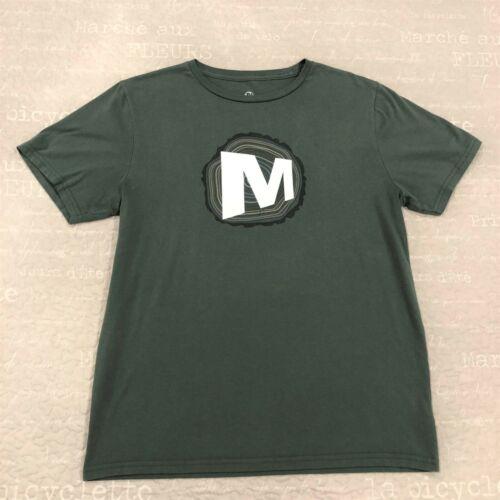 Mens Circle M Signature Green Merrell Graphic T-Shirt Short Sleeve Sz Lg