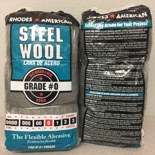 Rhodes American 0 Grade Fine Steel Wool Pad 2 packs of 12