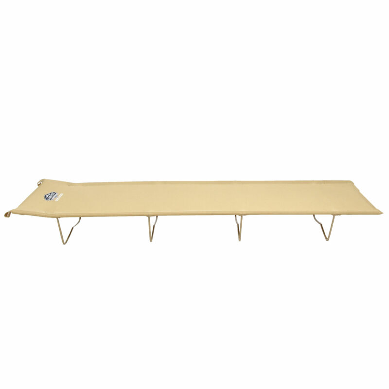 Kamp-Rite Compact Lightweight Economy Cot, Use for Portable Lounge or Bed, Tan