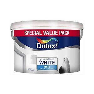 Dulux Matt Pure Brilliant White Matt Emulsion - Walls & Ceilings Paint 7L