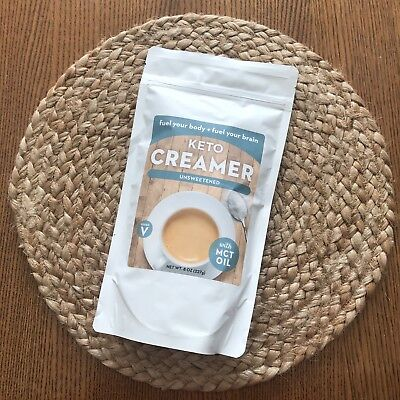 Keto Creamer Unsweetened Vegan 8oz with MCT Oil Best By August