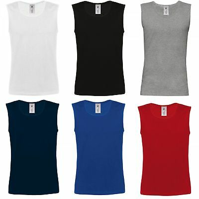 B&C: Herren Tank Top, Fitness, Unterhemd, Baumwolle ** Athletic Shirt ** NEU (3xl Herren-tank Top)