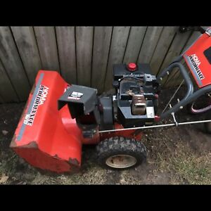 Older noma snowblower with electric start