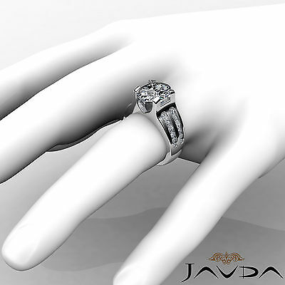 2 Row Channel Prong Setting Oval Diamond Engagement Ring GIA I Color SI1 1.62Ct 3