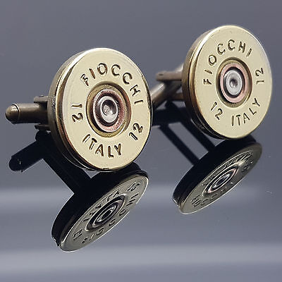 Enge Fiocchi Schrotflinte Hülle Patronen Kappe Manschettenknöpfe Clay Shooting
