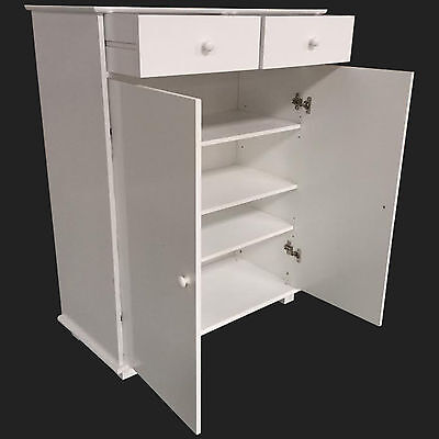 SHOE STORAGE CABINET WHITE FOOTWEAR ORGANISER RACK STAND SHOES CHEST
