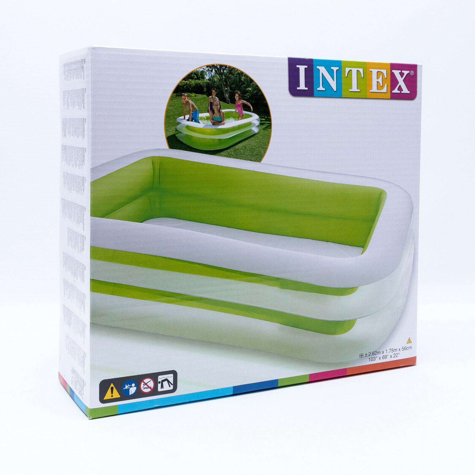 Intex 56483NP Swimming Pool Familien Pool  Kinderpool 2,62 x 1,75 x 56 cm. NEU