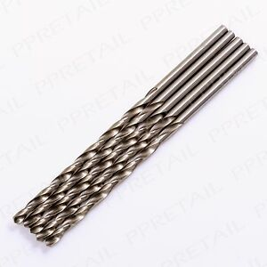 4mm Shank Drill HSS Bits Plastic Metal/Steel Wood 132mm Long High Speed Steel