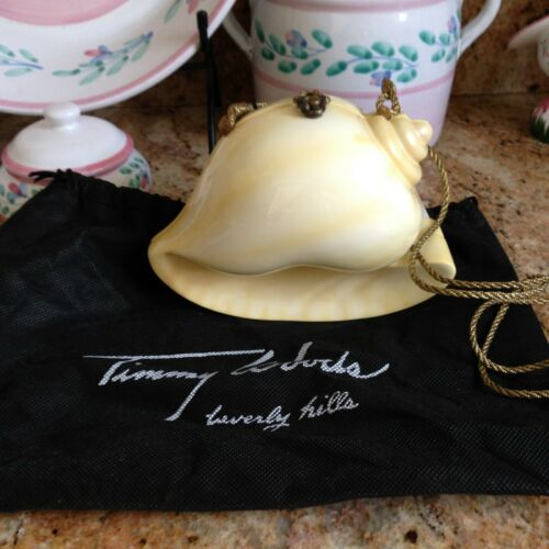 RARE Timmy Woods Seashell Handbag, Purse Signed, Tags & Bag