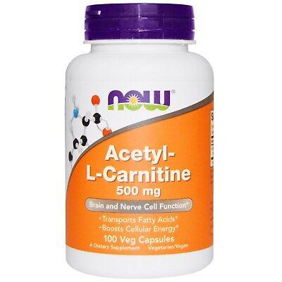 500 Mg Vegetarische Caps (Acetyl-L-Carnitine 500 mg (100 Veg Caps) - Now Foods)