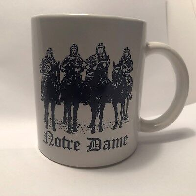 Vintage Notre Dame Football Coffee Mug,  Four Hourseman Picture on Front