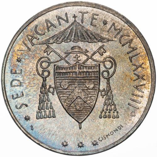 1978 VATICAN CITY 500 LIRE SILVER BU COLOR GORGEOUS NEON BLUE TONED GEM UNC (DR)