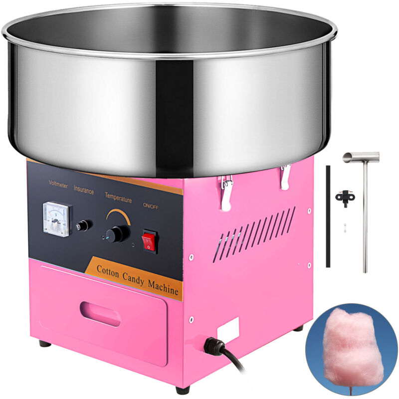 NEW Electric Cotton Candy Machine Pink Floss Carnival  Maker Party Commercial