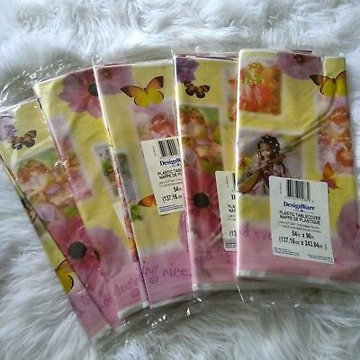New DESIGN WARE Fairy Plastic Table Cover Party Supply, 54 x 96 inch (Lot of 5)