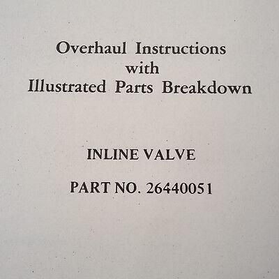 Vap Air Vapor Corp   Inline Valve 26440051 Overhaul Parts Manual