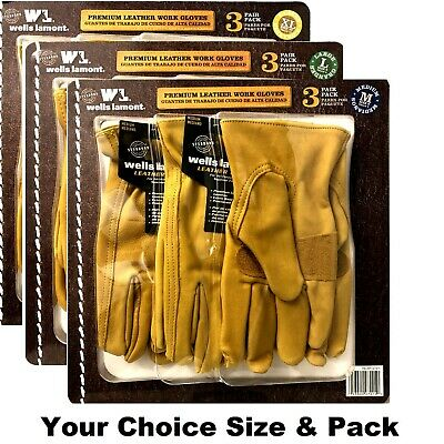 Wells Lamont Premium Cowhide Leather Work Gloves Your Sizepack Choice