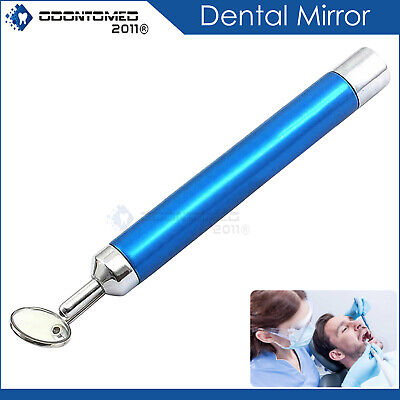 Dental Mirror With Light Blue Color Dental Instruments