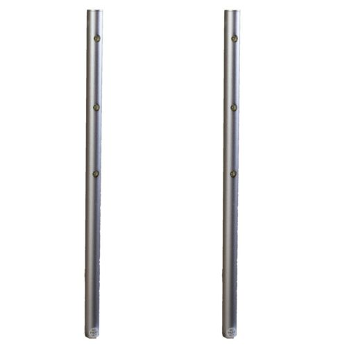 2x Jewelry showcase LED light Pole Silver 6000K Retail display + UL power FY-34