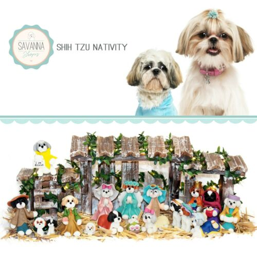 SAVANNASHOPS Dog Nativity Shih Tzu Gifts - Nativity Sets - Lhasa Apso Lover Gift