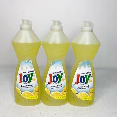 Joy Non-Ultra Lemon Scent Dishwashing Liquid 3 x 14 fl.oz. Lemon Scent Dishwashing Liquid
