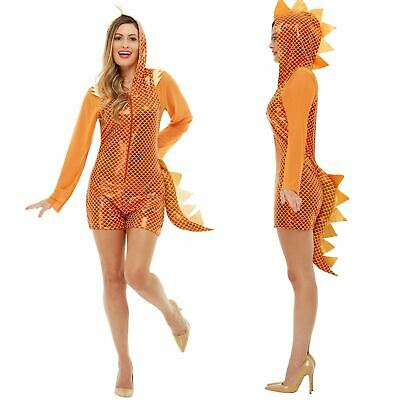 n Dinosaur Fancy Dress Fairy Tale  Jumpsuit Women's Party (Womens Orange Jumpsuit Kostüm)