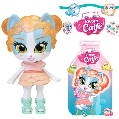 Jakks Series 5 Soda Pop PEACHY PAW Kitten Catfe *Light Up Hair* Doll Blue Orange