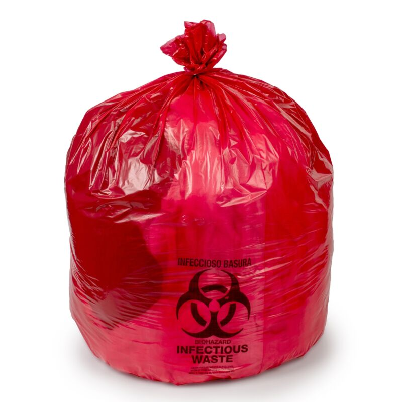 Colonial Bag Infectious Waste Bag 40 to 45 gal. 10 Pack(s) 25 / PackHDR404817