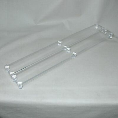 Lucite Acrylic Countertop Display Stands Tables Pair Set 43.5 Long Great