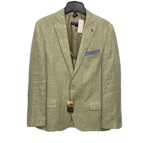 $250 CREMIEUX Kalahari Sunset Linen Blazer Sport Coat Jacket XL Light Olive Clothing, Shoes & Accessories