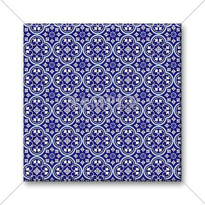 Blue Tile Design - Ceramic Tile - Moroccan Tile Design Blue White Pattern Kitchen Bathroom #11